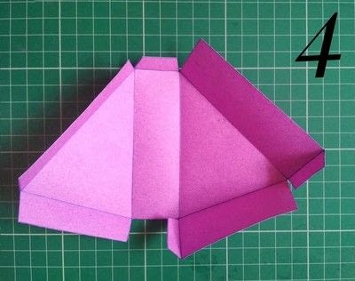 How to make a shaped box. Paper Cake Slice Box - Step 4