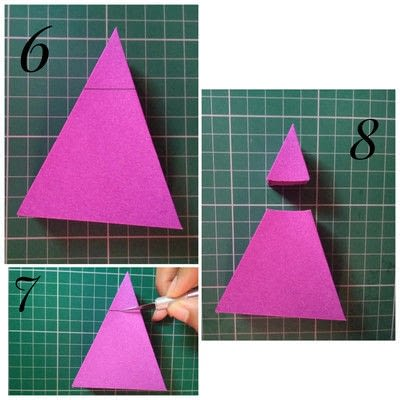How to make a shaped box. Paper Cake Slice Box - Step 7