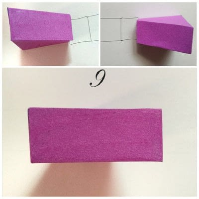 How to make a shaped box. Paper Cake Slice Box - Step 8