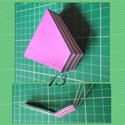How to make a shaped box. Paper Cake Slice Box - Step 12
