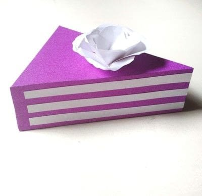 How to make a shaped box. Paper Cake Slice Box - Step 14