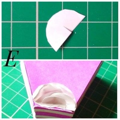 How to make a shaped box. Paper Cake Slice Box - Step 18