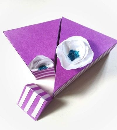 How to make a shaped box. Paper Cake Slice Box - Step 19