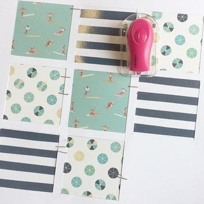 How to make a piece of paper art. Summer Splash Layout - Step 3