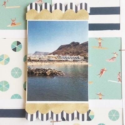 How to make a piece of paper art. Summer Splash Layout - Step 5