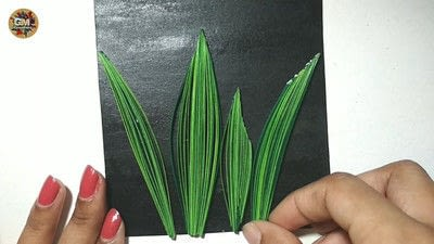 How to fold a piece of quilled art. Quilling Lily Of The Valley - Step 13