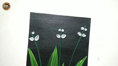 How to fold a piece of quilled art. Quilling Lily Of The Valley - Step 16