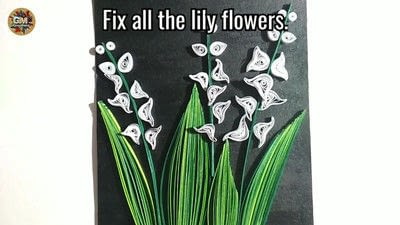 How to fold a piece of quilled art. Quilling Lily Of The Valley - Step 18