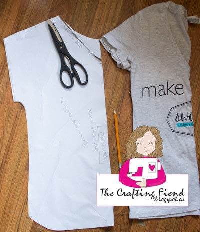 How to make a shirt. Make Your Own Perfect Fit Dolman Top! - Step 3