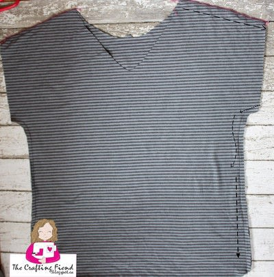 How to make a shirt. Make Your Own Perfect Fit Dolman Top! - Step 4