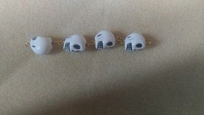 How to make a dangle earring. Skull Earrings - Step 5