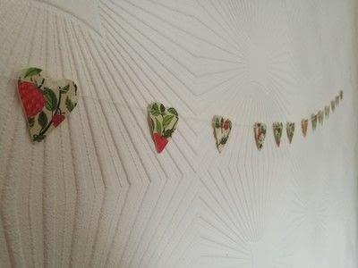 How to make a garland. Floral Heart Garland - Step 5