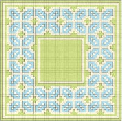 How to cross stitch . Geometric Cross Stitch Pincushion - Step 1
