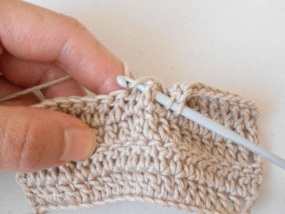 How to double crochet . Front Post Double Crochet - Step 4