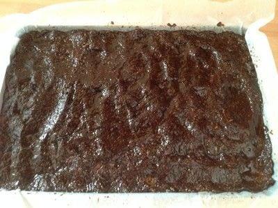 How to bake a bar / slice. Chocolate Slice - Step 3