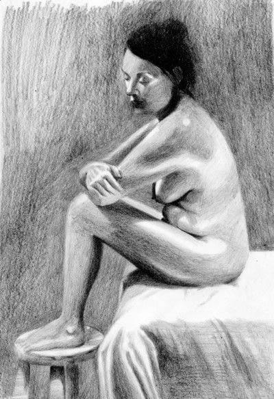 How to create a portrait. A Tonal Study - Step 7