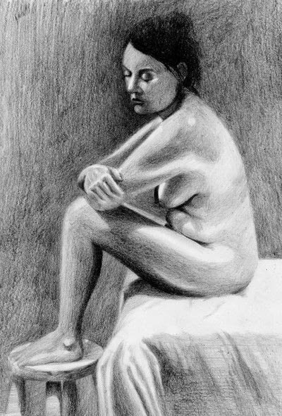 How to create a portrait. A Tonal Study - Step 8