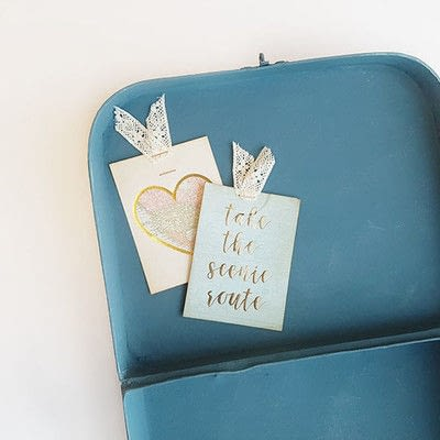How to make a techniques. Suitcase With Summer Memories - Step 7