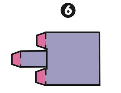 How to make a papercraft. Automatic Pull Strip - Step 6