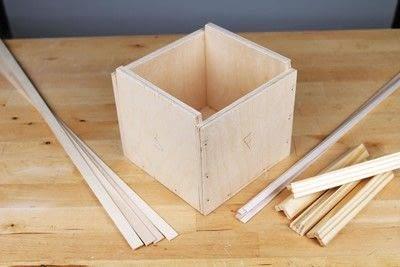 How to make a bird house. Tudor Style Beams Birdhouse - Step 1
