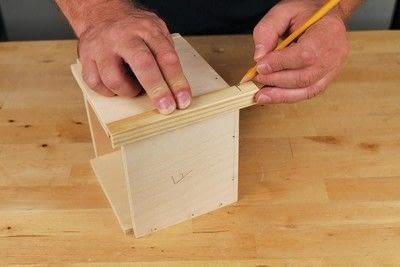 How to make a bird house. Tudor Style Beams Birdhouse - Step 2