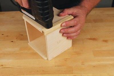 How to make a bird house. Tudor Style Beams Birdhouse - Step 3