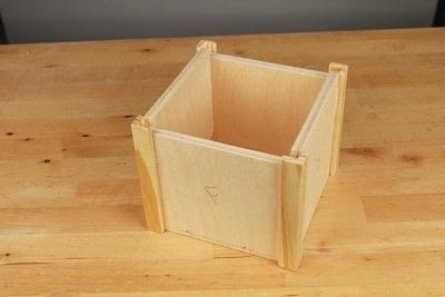 How to make a bird house. Tudor Style Beams Birdhouse - Step 4