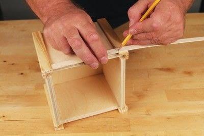 How to make a bird house. Tudor Style Beams Birdhouse - Step 5