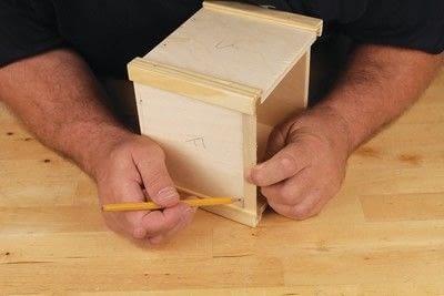How to make a bird house. Tudor Style Beams Birdhouse - Step 6