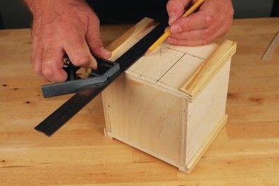 How to make a bird house. Tudor Style Beams Birdhouse - Step 8