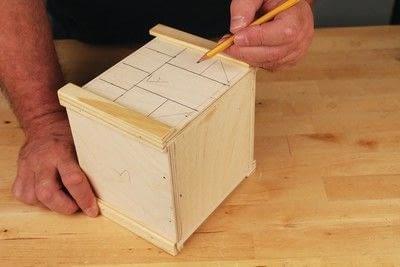 How to make a bird house. Tudor Style Beams Birdhouse - Step 9