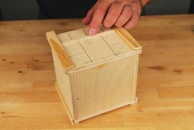 How to make a bird house. Tudor Style Beams Birdhouse - Step 11