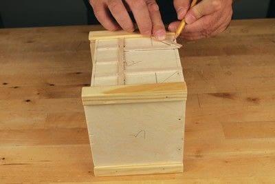 How to make a bird house. Tudor Style Beams Birdhouse - Step 13