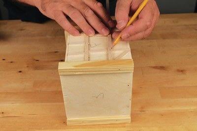 How to make a bird house. Tudor Style Beams Birdhouse - Step 14