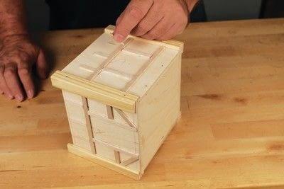How to make a bird house. Tudor Style Beams Birdhouse - Step 17