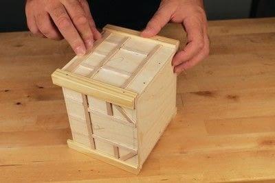 How to make a bird house. Tudor Style Beams Birdhouse - Step 18