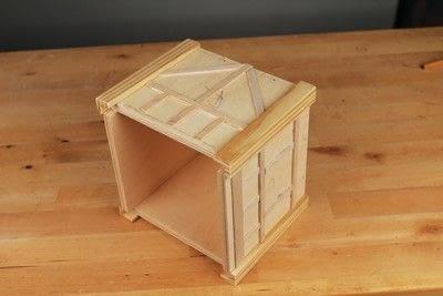 How to make a bird house. Tudor Style Beams Birdhouse - Step 19
