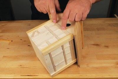 How to make a bird house. Tudor Style Beams Birdhouse - Step 20