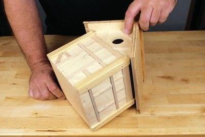 How to make a bird house. Tudor Style Beams Birdhouse - Step 23