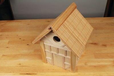 How to make a bird house. Tudor Style Beams Birdhouse - Step 26