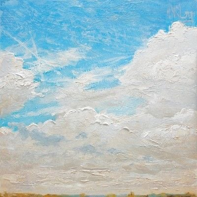 How to paint a landscape. Sky Painting - Step 9