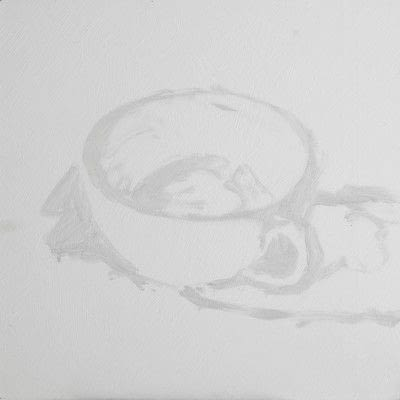 How to create a drawing or painting. Teacup Painting - Step 3