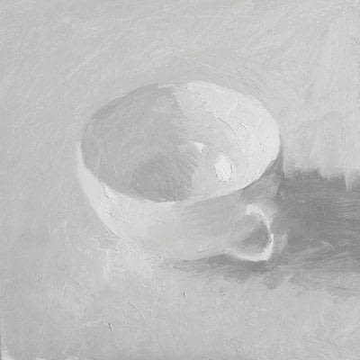 How to create a drawing or painting. Teacup Painting - Step 5