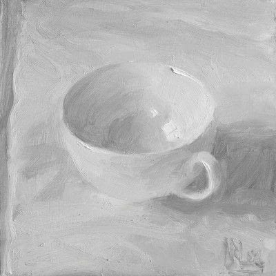 How to create a drawing or painting. Teacup Painting - Step 6