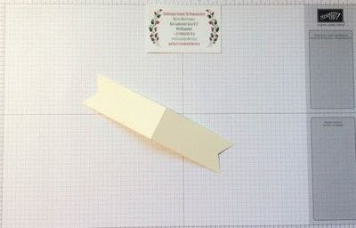 How to make a bookmark. Bookmark Using Stampin' Up! Products - Step 1