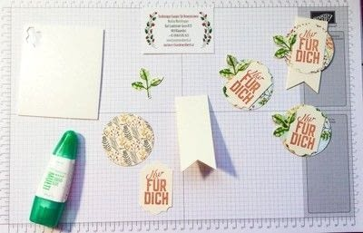 How to make a bookmark. Bookmark Using Stampin' Up! Products - Step 3