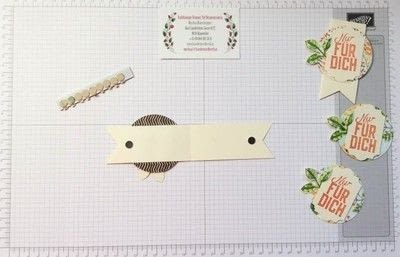 How to make a bookmark. Bookmark Using Stampin' Up! Products - Step 5