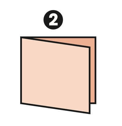 How to make a papercraft. M Fold - Step 2