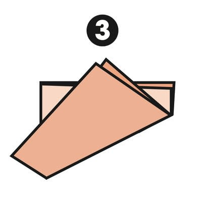 How to make a papercraft. M Fold - Step 3