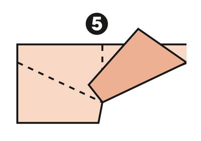 How to make a papercraft. M Fold - Step 5